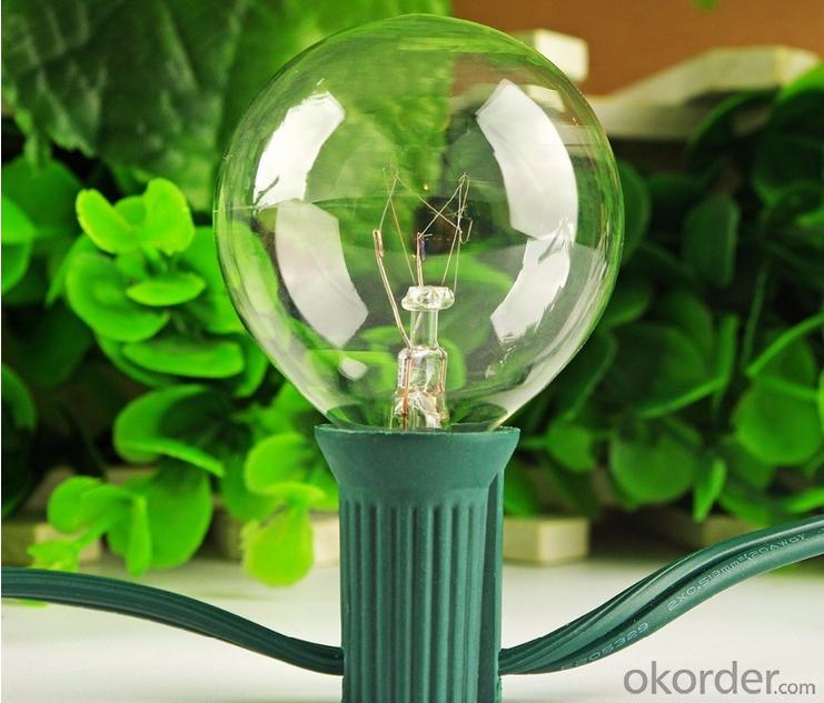 G40 Patio Lights Outdoor Globe Garden String Lights Power Saved