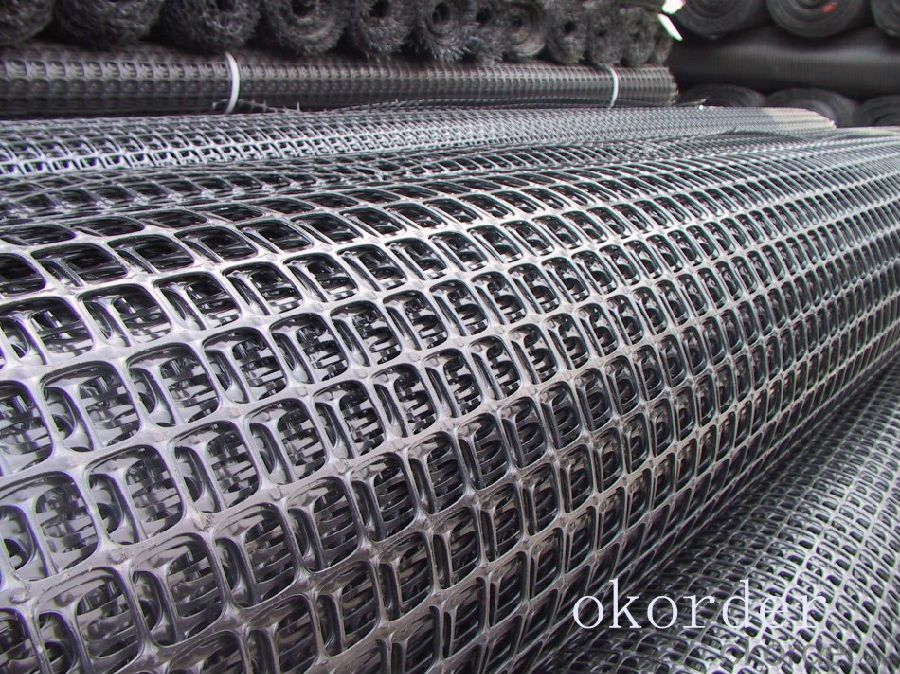 Buy Pp Plastic Polypropylene Geogrid Biaxial Geogrid High