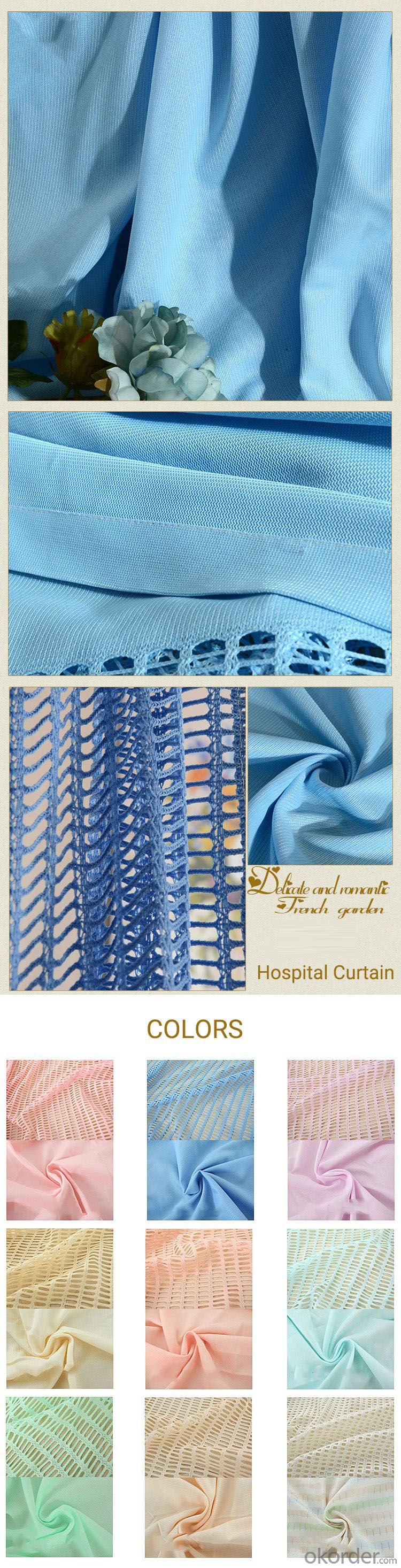 Guangzhou wholesale blue bed cubicle partition medical curtain antibacterial hospital curtain