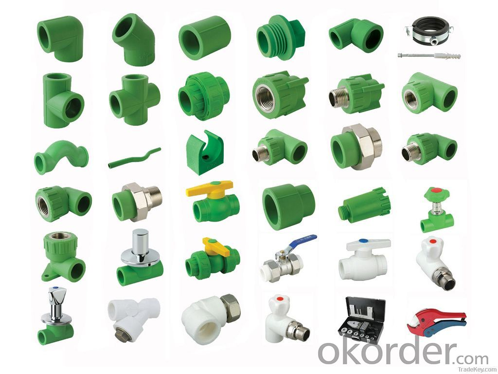 pipe fittings for hot and cold water convey