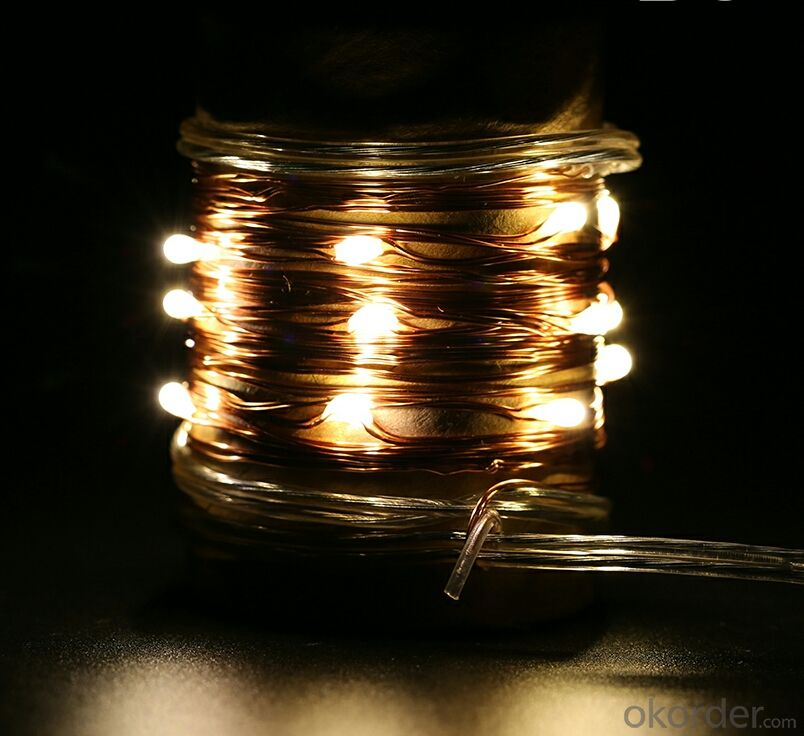 Colorful Copper Wire LED Light Bulb String for Cafe Holiday Bar Decoration