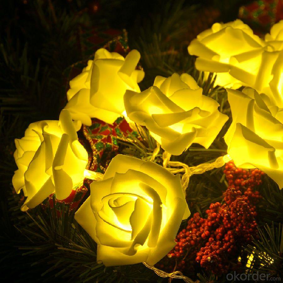 Rose -shaped String Led Lights for  Wedding  Decoration