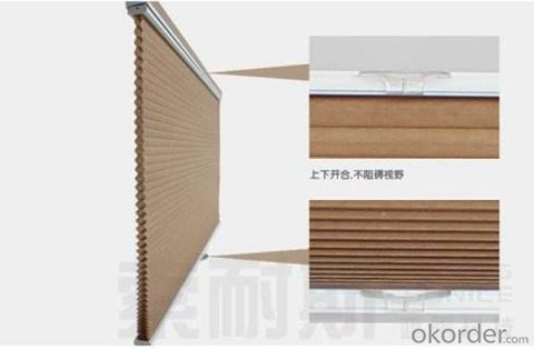 vertical blind curtain with honey comb for home decoration