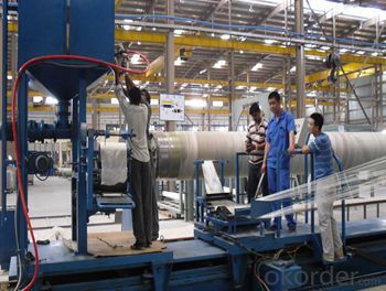 FRP Winding Wire Continuous Equipment / Glass Fiber Pipe Making Line with High Quality of New Design
