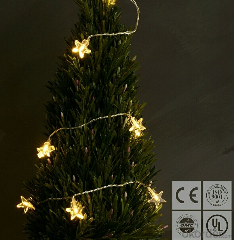 2017 New White Star Led String Lights for Outdoor Indoor Holiday Bar Home Decoration