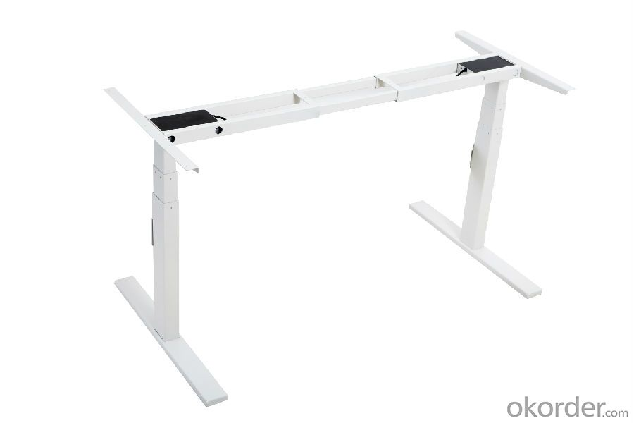 Height Adjustable Desk Steel Frame with Dual Motors and Three Section Column