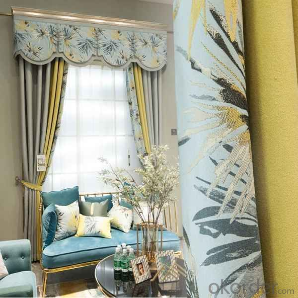 panel curtains with sheer window Metallic Foil printing grommets