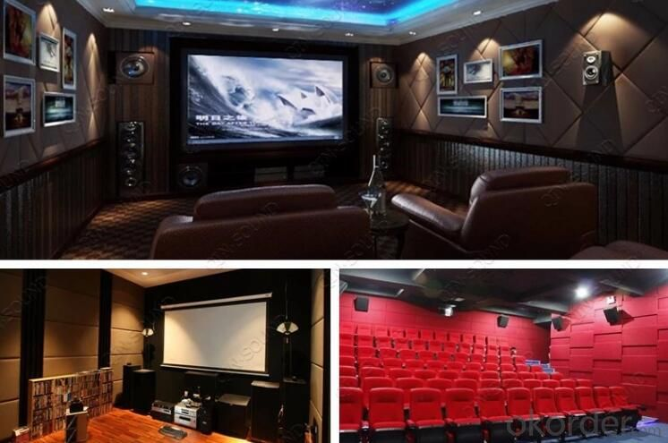 Acoustic Fiberglass Wall Panel for Cinema