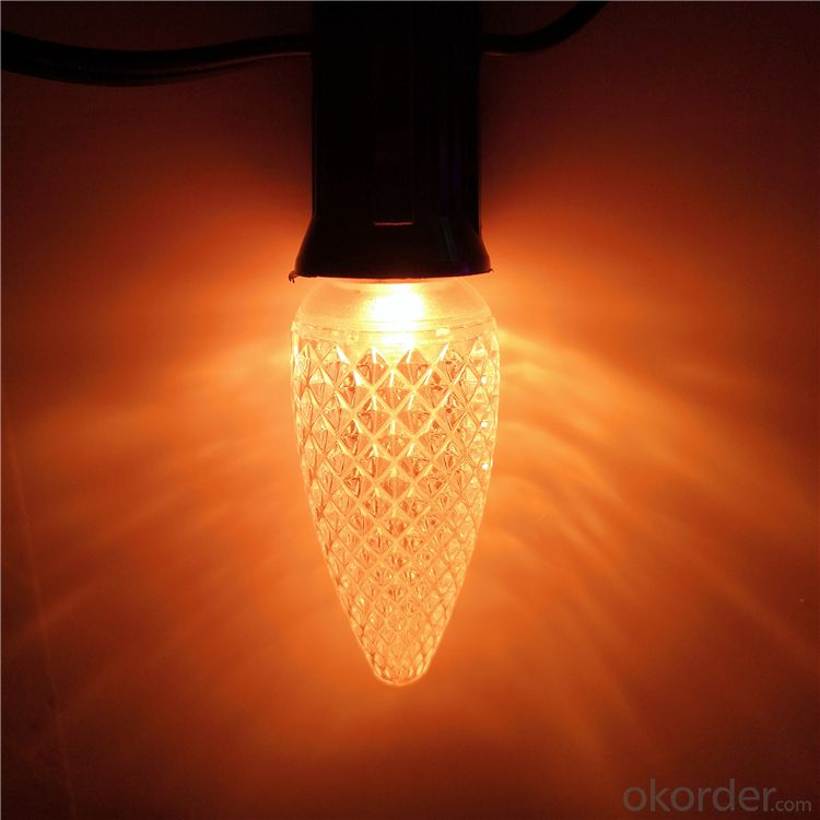 Top Quality Red C9 LED Chrismtas Light bulb replacement outdoor Indoor