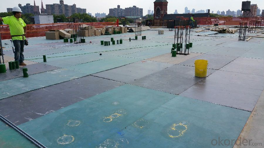 Plastic film HDO plywood concrete formwork 1220x2440 18mm poplar core phenolic WBP anti slip