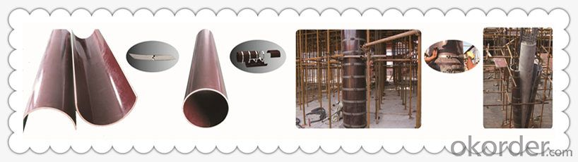 circular column formwork wooden lightweight for concrete column  round pillar