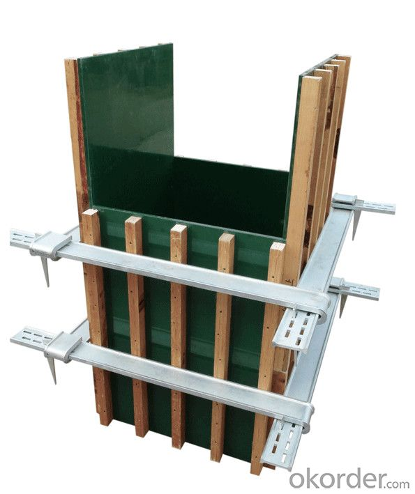 column formwork  lightweight plywood with adjustable clamp structure