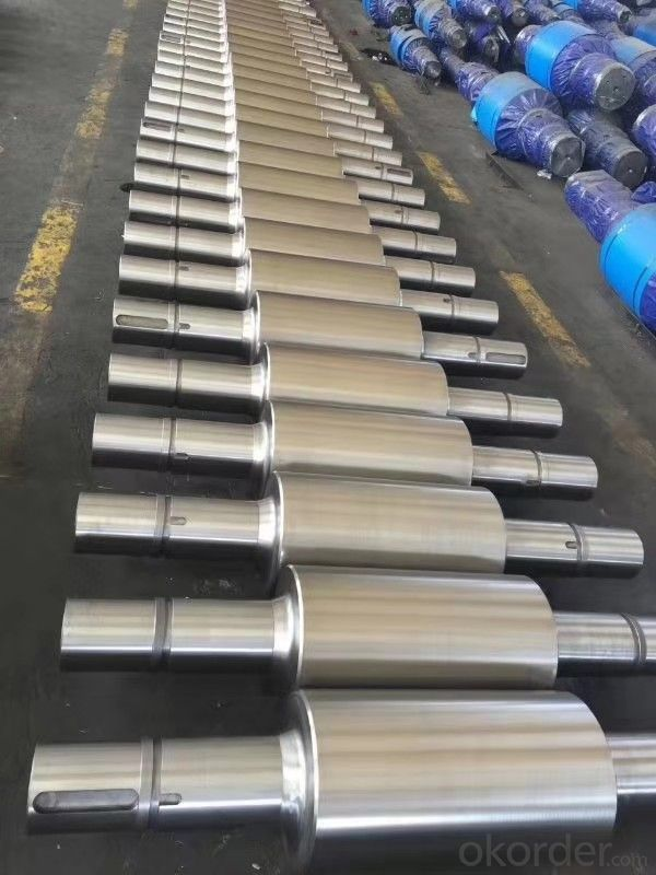 Centrifugal composite roll for steel mill