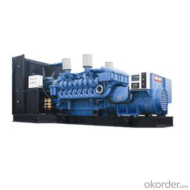 Open Type MTU Diesel Generating Set for Factory Use