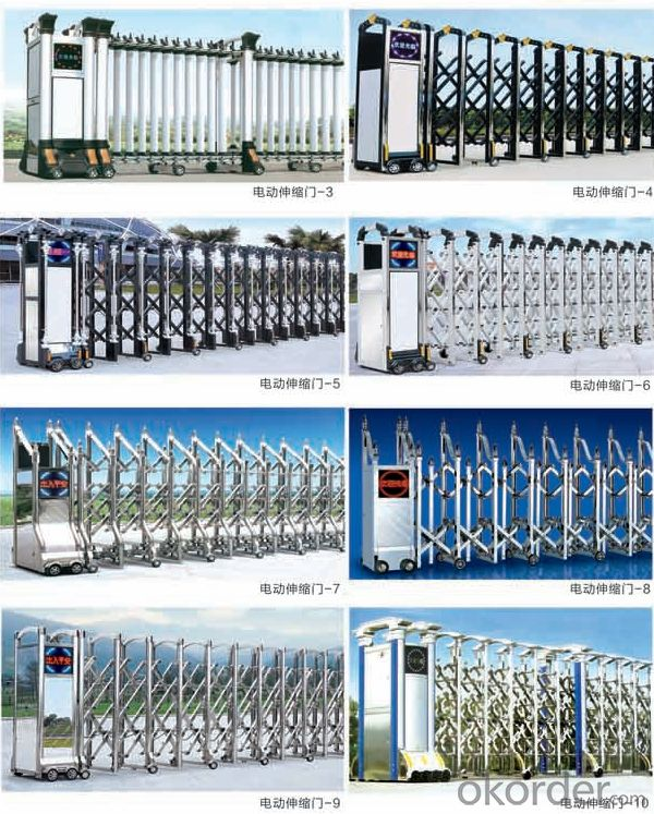 Aluminum Alloy Road Accordion Barrier Folding Safety Gate Main Entrance