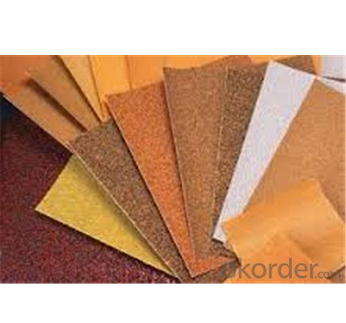 Hook and loop sandpaper