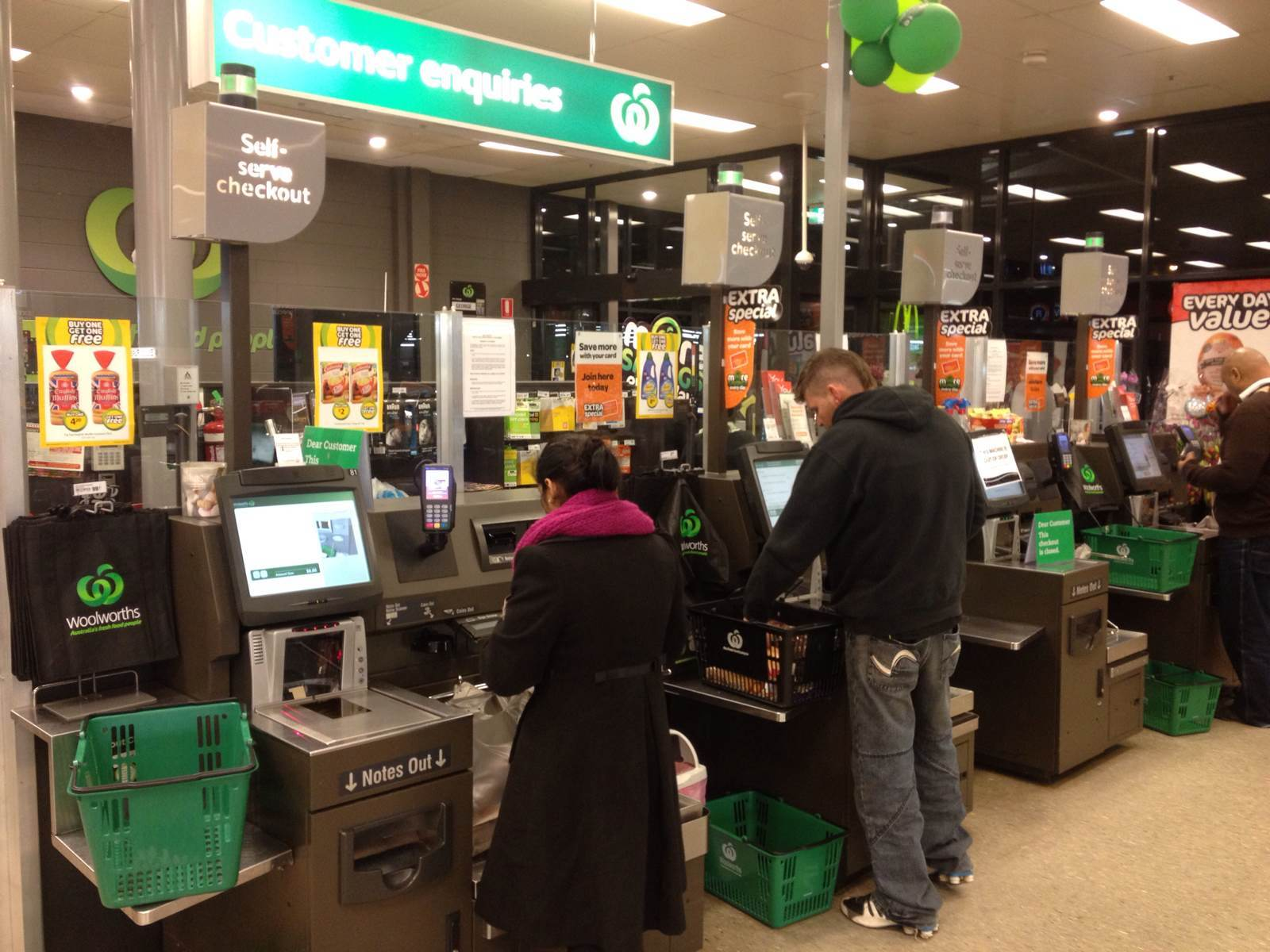 Design of supermarket checkout counters
