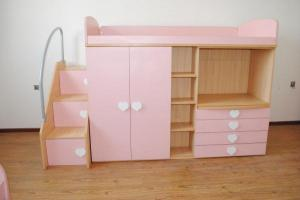 Kids Bunkbeds 2 Colors, Pink for Girl, Blue for Boy