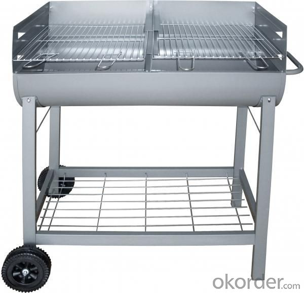 Buy Barrel Charcoal Bbq Grill With Trolley Ba9050b Price