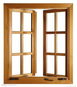 Wooden Window in Home Application