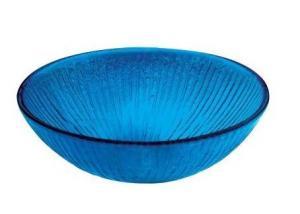 Glass Vessel Sink in Blue