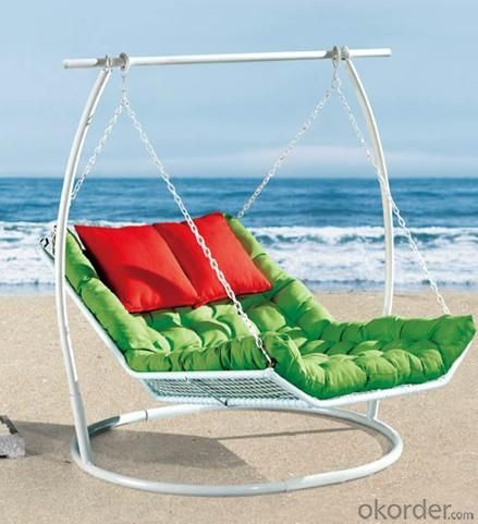 Steel Rattan Double Seats Hanging Chair HC021