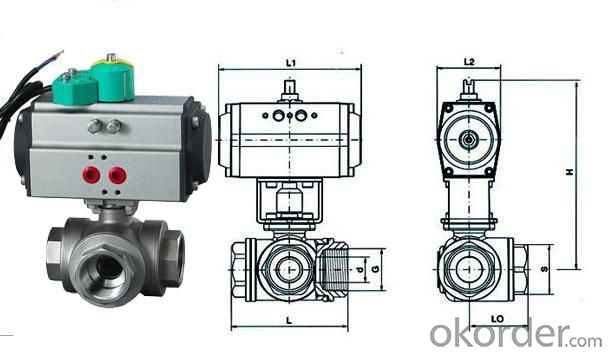 Three Way Ball Valve For Water