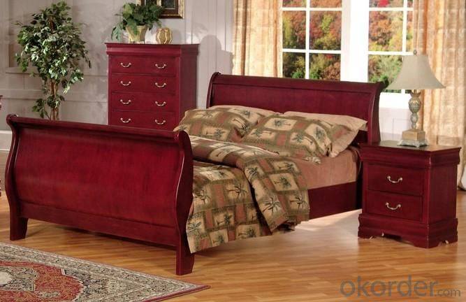 Buy Wine Red Color American Bedroom Furniture Set Price