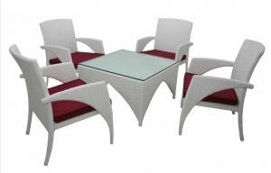 Aluminum Rattan Dining Table Set DT023