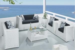 Aluminum Rattan Sofa Set SS040