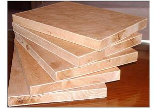 Laminated Decorative Plain  Block board with Pine /Poplar/ Paulownia /Fir Core