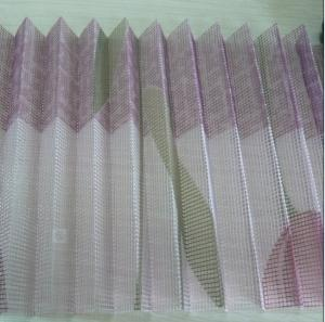 High Quality Polyester Pleated Mesh With Pattern