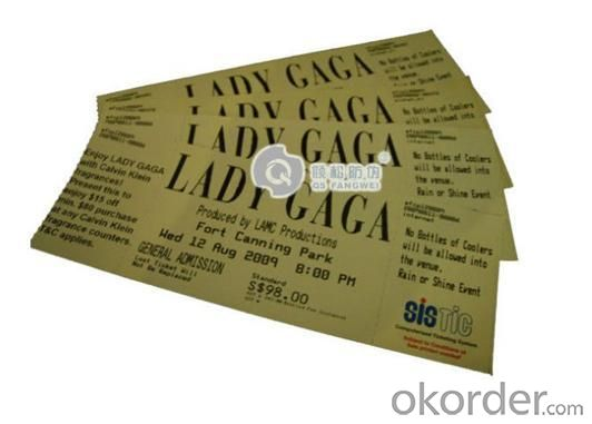 Printing ​ Custom Concert Tickets with 5 Years Experience