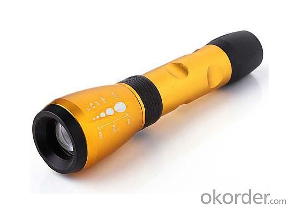 LED Aluminum Flashlight Torch 1x18650