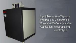 Electrolysis Power Supply for NaCl. 12V2000A
