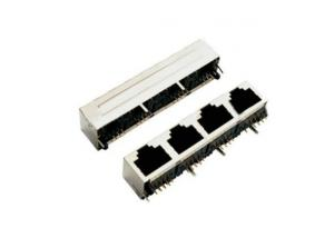 RJ45 Shield Female Socket with 4 Port and 90 Degree