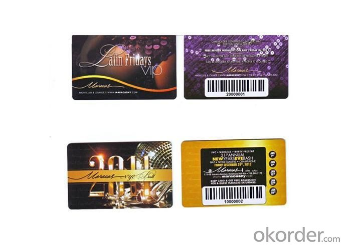 Thermal Print Bar code Card