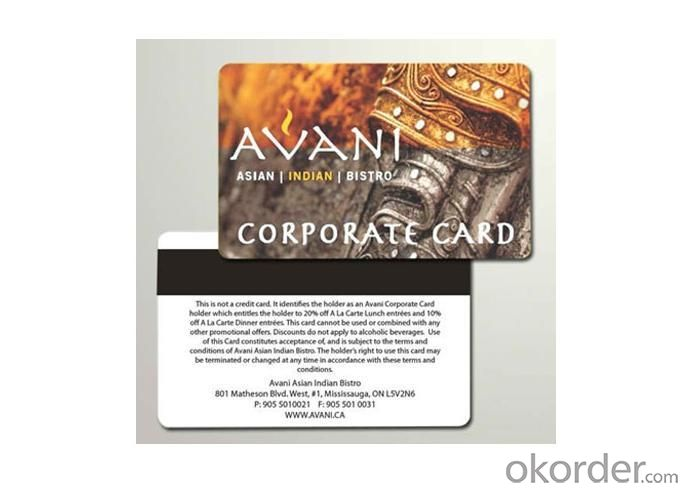 CR 80 Full Colour Offset Printing PVC Cards