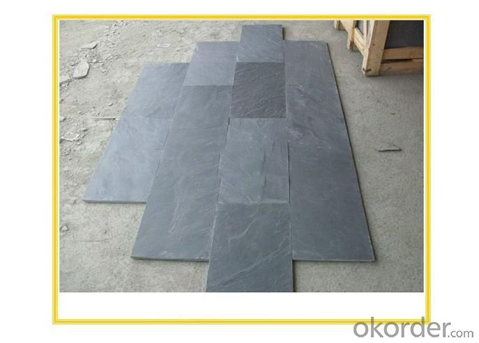 Natural Black Slate Floor Tile