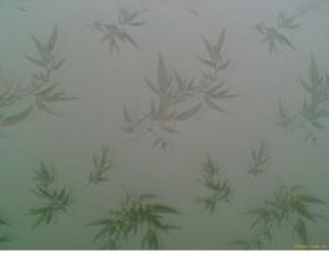 Clear Maple Leaf Pattern Glass