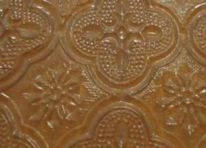 Bronze Flora Pattern Glass