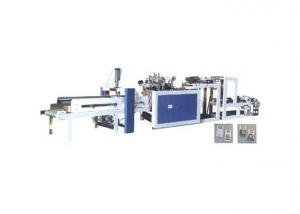 One Line T-shirt Bag Maker with Automatic Punching System