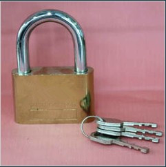 Big Circle Gold Plated Padlock