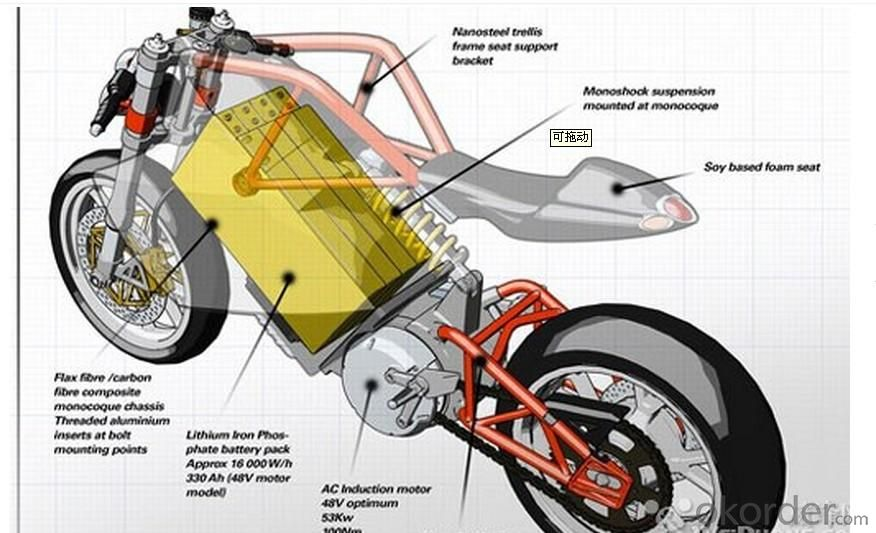 Electric Motorcycle 1200w