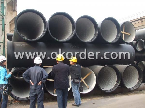 LARGE DIAMETER SOCKET SPIGOT DUCTILE IRON PIPE K8