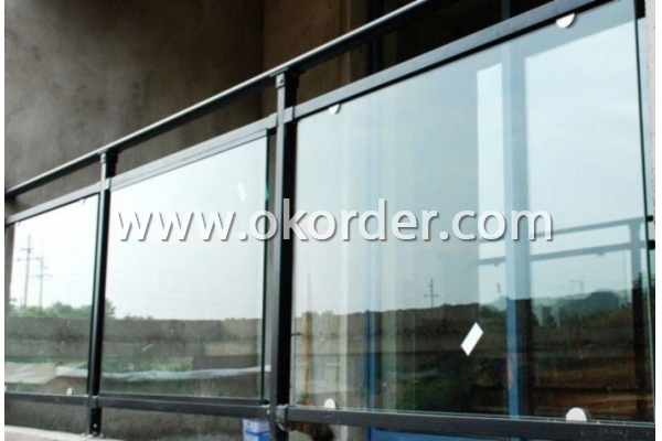 6-12mm clear safety toughened glass for handrail and pool fences