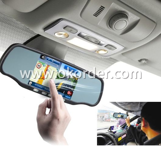 Application of  RearView Mirror GPS With DVR Bluetooth AVIN