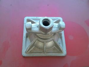 Hot Dip Galvanized Tie Rod Nut With Base Plate For 100mm
