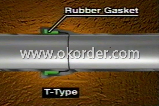 Push-on joint T type ductile iron pipe