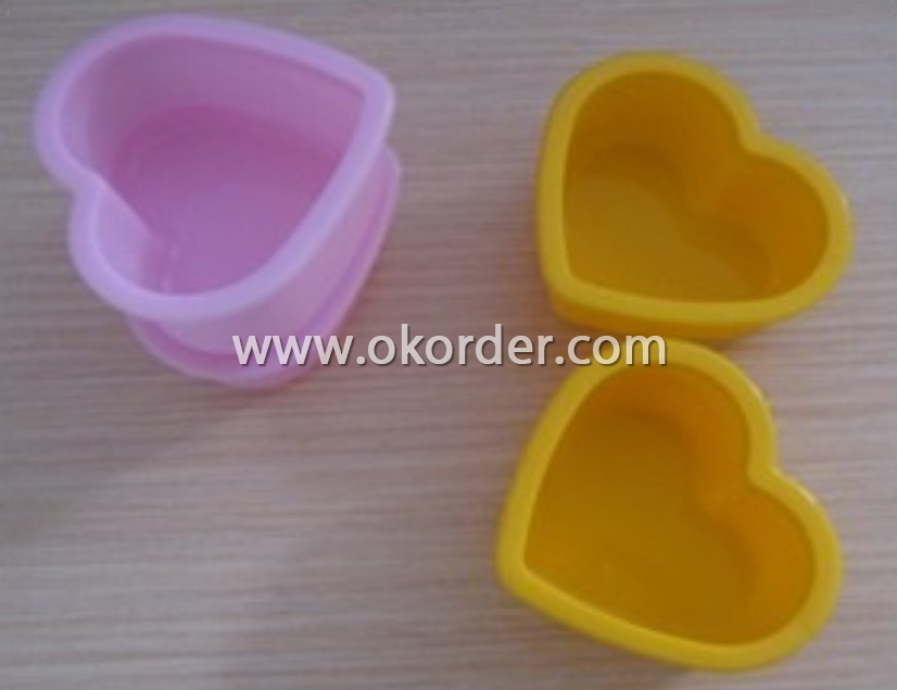 Hot-sale silicone cake model-heart shaped
